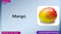 Learn English - English Vocabulary Lesson 20 - Fruit | Free English Lessons, ESL English Lessons