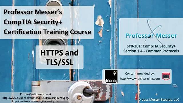 HTTPS and TLS/SSL – CompTIA Security+ SY0-301: 1.4
