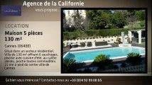 A louer - Maison/villa - Cannes (06400) - 5 pièces - 130m²