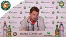 Press conference Stanislas Wawrinka 2015 French Open / 3e Tour