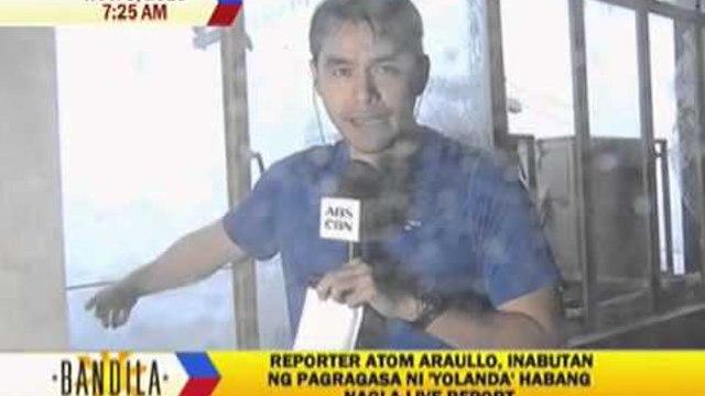 ABS-CBN News team survives super typhoon