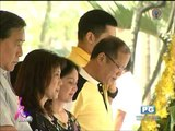 Kris visits parents' grave with PNoy
