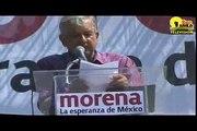 AMLO  discurso desde el Zócalo Capitalino Asamblea Morena