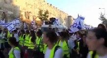 Un Juif Americain durant une manifestation sioniste,vient soutenir le peuple palestinien