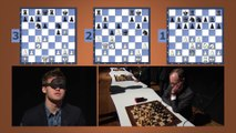 Le champion d'échecs Magnus Carlsen joue 3 parties en simultané à l'aveugle - Sohn Conference in NYC