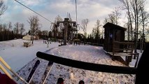 GoPro HD Skiing in Ozolkalns,Cēsis Latvija #HEADSKII #GoPro