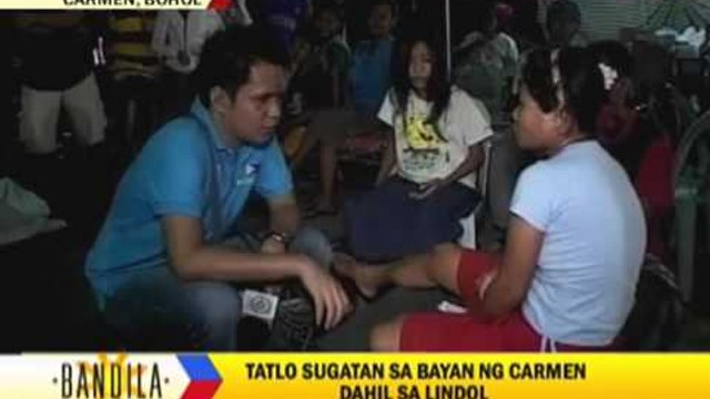 Bohol residents spend night in evacuation centers