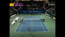 "federermagic -- ""IMPOSSIBLE"" No-Look Backhand Flick Lob Winner from Mid-Court!!!"