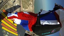 """Kuwait's first ever base jumps from Al Hamra tower by Chris """"Douggs"""" McDougall BASE"""
