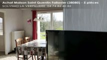 A vendre - maison - Saint Quentin Fallavier (38080) - 5 pièces