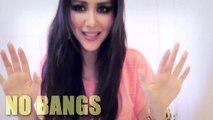 ★HAIR TUTORIAL: HOW TO FAKE BANGS WITH BUN / TOP KNOT HAIRSTYLES FOR MEDIUM LONG HAIR
