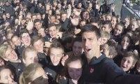 Novak Djokovic et les ramasseurs de balles (Roland Garros 2015)