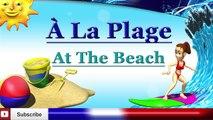 Learn French - Beach Vocabulary - à la plage