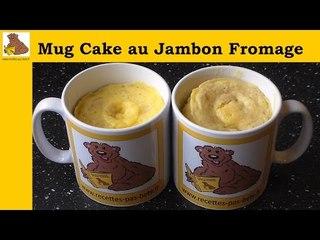 Mug cake au jambon et fromage (recette rapide et facile)