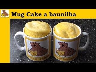 Mug cake de baunilha  (rapida e facil)