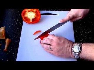 Como cortar corretamente os Pimentos