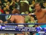 The Great Khali vs Curt Hawkins & Zack Ryder ( Woo Woo Woo Debut )