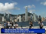 Solar eclipse casts shadow over Hong Kong