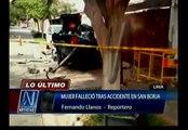 San Borja: Mujer murió tras choque de vehículo contra frontis de una vivienda
