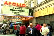 Micheal Jackson fans at Apollo Theatre in Harlem, New York aired on SAMAA TV 6-26-2009