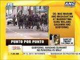 Punto por Punto: Gobyerno, handang gumamit ng pwersa vs MNLF