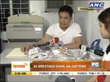 26 nabbed in jueteng raids in Paranaque