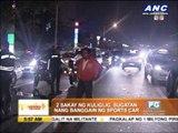 Sports car hits 'kuliglig'; 2 hurt