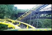Loch Ness Monster Front Seat on ride widescreen POV Busch Gardens Williamsburg Loch Ness Monster