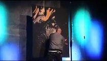 Upside down Jesus painting