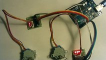 Modified accel stepper library for 28byj-48 geared step motors