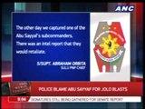 Police blame Abu Sayyaf for Jolo blasts