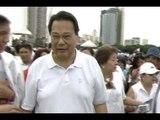 Ex-CJ Corona heckled at anti-pork protest