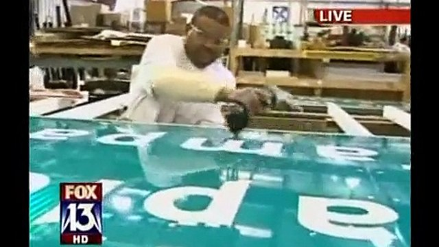 FOX 13's Charley Belcher visits Creative Sign Designs headquarters in Tampa, FL
