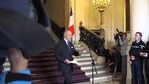 """Ukraine : point presse de Laurent Fabius suite à la réunion format """"Normandie"""""""