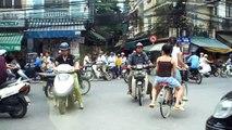 bike girls Hanoi Vietnam