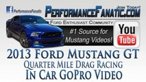2013 Mustang GT vs Chevy Camaro Quarter Mile Drag Racing In Car GoPro Video | Performance Fanatic