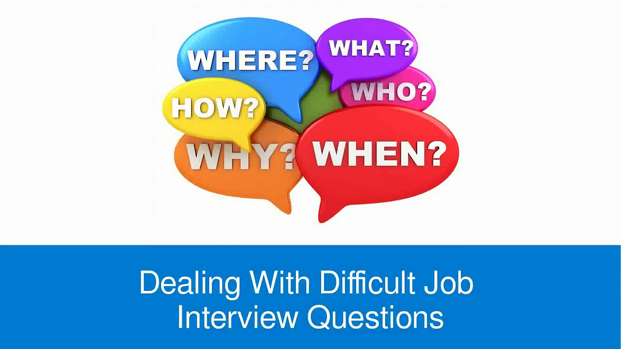 How to Deal with Difficult Job Interview Questions – FindMyDreamJob.co.uk