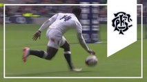 Christian Wade dropped try - oops! - England v Barbarians