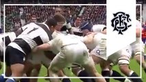 Ed Slater try - text book rucking - England v Barbarians