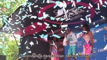 Giro d'Italia 2015 - stage 21: Fabio Aru, Giovanni Visconti and Giacomo Nizzolo post race interviews