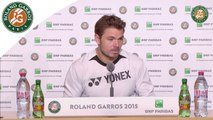 Press conference Stanislas Wawrinka 2015 French Open / 4th Round