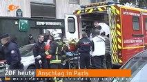 ZDF heute 100SEC - vom 07 Januar 2015 - Anschlag in Paris - Frankreich unter Schock - Nachrichten