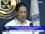 DFA to ask for extension of Saudi deadline for illegal OFWs