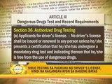 No more drug test for driver's license applicants
