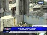 High tide triggers Malabon, Bulacan floods