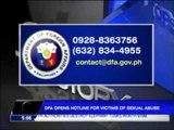 DFA opens sex abuse victim hotlines