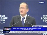 PNoy promotes Philippines at world forum