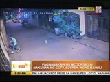 CCTV footage leads to motorcycle thief's arrest