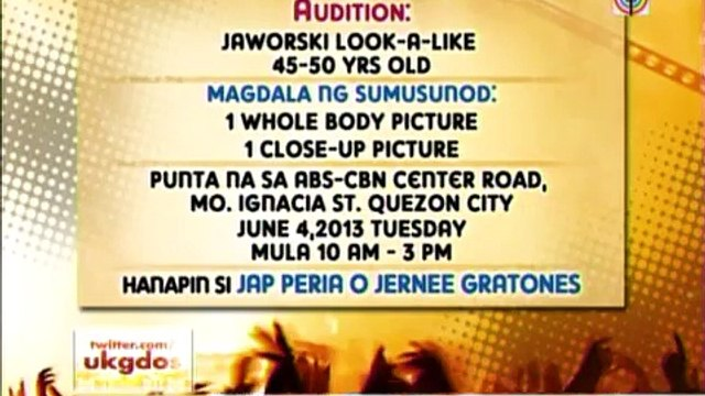 ABS-CBN searching for Jaworski look-alike