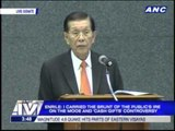 Enrile resigns irrevocably as Senate President